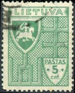 Lithuania #287 5c Arms Used/H