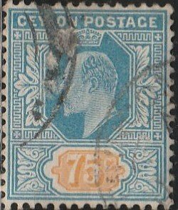 Ceylon,#190  Used, From 1904-10