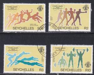 Seychelles # 547-550, Summer Olympics, Used, 1/2 Cat.