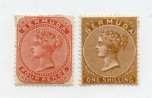 Bermuda - SG# 28a & 29 MH (rem) / wmk crown CA  /    Lot 419_ 1216077