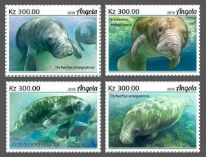 Z08 IMPERF ANG190210a Angola 2019 Manatee MNH ** Postfrisch