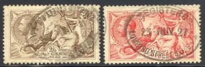 Great Britain  #179-80 used VF