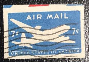 UC26 Used Airmail Cutout 7c