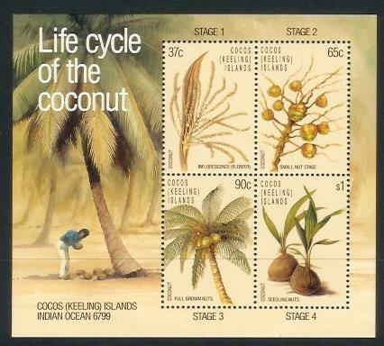 Cocos Is - 1988 Life Cycle of the Coconut (MNH)