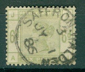 GB QV 1883/4 6d dull green sg194 cv£240 Saffron Walden cds (1v) FU Stamp