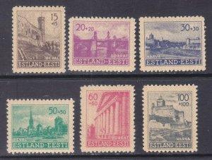 Estonia NB1-NB6 Mint OG 1941 German Occupation Semi-Postal Full Set VF