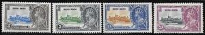 Hong Kong 147-150 Unused/Hinged Hinge Remnant - George V