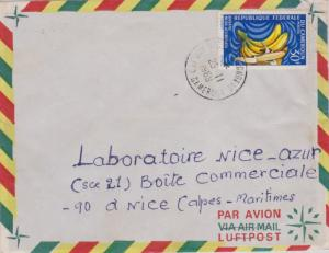 Cameroun 30F Bananas 1969 Airmail to Nice, France.  Cancel unreadable.  EUROP...