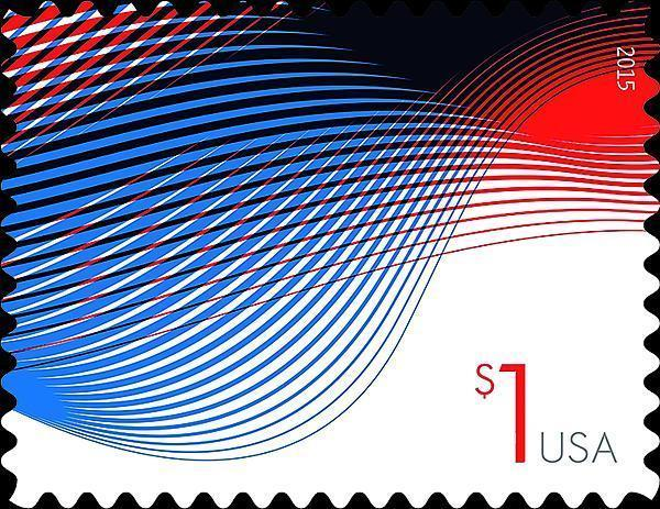 2015 $1 Patriotic Wave, Billowing Flags Scott 4953 Mint F/VF NH