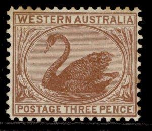 AUSTRALIA - Western Australia EDVII SG141, 3d brown, M MINT. Cat £65.
