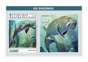 HERRICKSTAMP NEW ISSUES CENTRAL AFRICA Dugong S/S