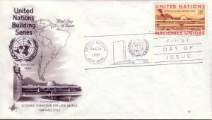 United Nations FDC Sc.# 195 Building Series L382