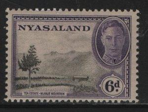 NYASALAND, 74, HINGED, 1945, TEA ESTATE AND MLANJE MOUNTAIN