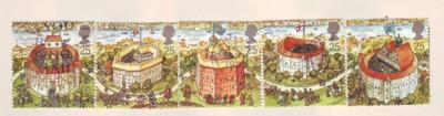 Great Britain Sc 1620-4 1995 Globe Theatre stamps used