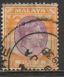 Straits Settlements: 1937; Sc. # 247; O/Used Single Stamp