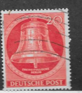 Germany #9N96 20pf Freedom Bell,Berlin-brt red- (U) CV $3.00
