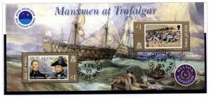 Isle of Man  Sc 1086 2005 Battle of Trafalgar sheet used