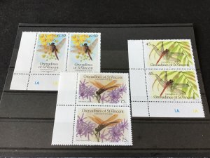 Grenadines of St Vincent Dragonfly mint never hinged stamps Ref 49405