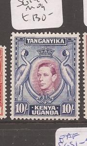 Kenya Uganda & Tanganyika KGVI 10/- later printing SG 149b MOG (4azn)