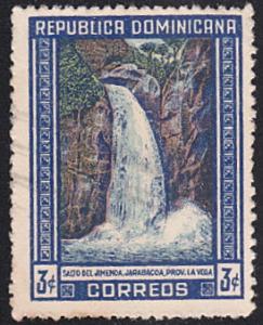 Dominican Republic # 424 used ~ 3c Waterfall