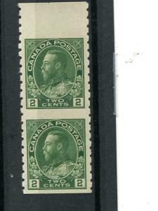 Canada #128a  Vert. pair  Mint VF NH  - Lakeshore Philateics