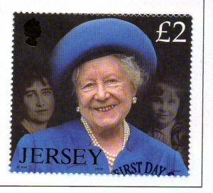 Jersey  Sc 1041 2002 £2 Queen Mother Memorial stamp used