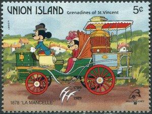 St. Vincent and the Grenadines 1989. Car La Mancelle (1878) (MNH OG) Stamp