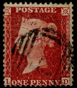 SG40, 1d rose-red PLATE 61, LC14, FINE USED. Cat £30. LD