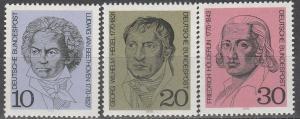 Germany #1014-6 MNH F-VF  (V2392)