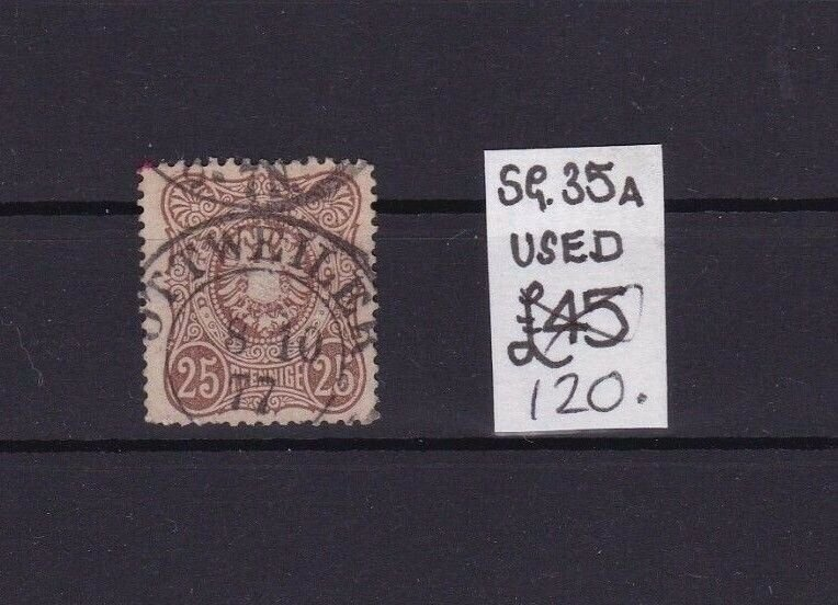 GERMAN EMPIRE EARLY USED STAMP SG 35a CAT £120 REF R 2889