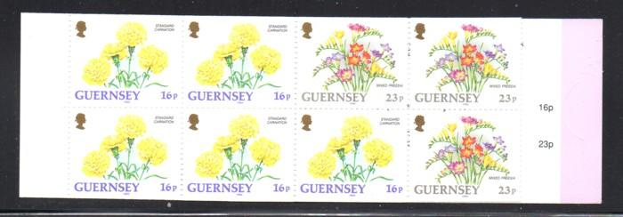 Guernsey 1992 16p & 23 p stamp booklet NH #488b