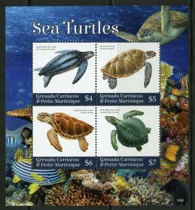 GRENADA GRENADINES  2019 SEA TURTLES  SHEET MINT NH