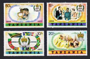 Tanzania Silver Jubilee 4v SG#218-221 SC#87-90