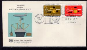UN New York 129-130 Trade and Development Geneva U/A FDC