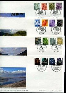 HERRICKSTAMP GREAT BRITAIN Sc.# 35-38,46-49,49-52,49-54 Country Symbols Cover