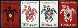 HERRICKSTAMP NEW ISSUES TONGA Peace Corps (Stylized Turtle)