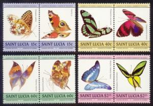 St. Lucia Sc# 731-4 MNH Butterflies
