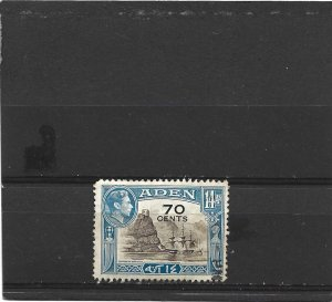 Aden 1951 Surcharges 70c on 14a Brown & Blue Fine Used