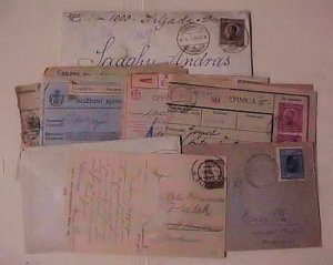 YUGOSLAVIA  8 COVERS, 10 PACKET CARDS 1920's