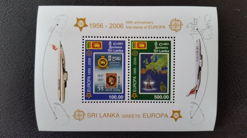 50th anniversary of EUROPA stamps - Sri Lanka 1x Bl perf ** MNH
