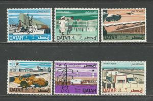 Qatar Scott catalogue #166-171 Unused HR