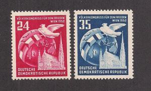 GERMANY - DDR SC# 118-19 F-VF OG 1952
