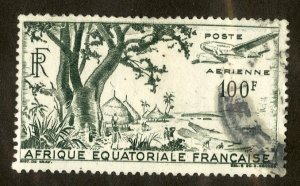 FRENCH EQUATORIAL AFRICA C32 USED BIN $1.00 AIRPLANE