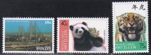 Netherlands Antilles # 815-817, Panda -Tiger- Ship, NH, 1/2 Cat