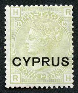 Cyprus SG4 4d Sage Green plate 16 M/Mint