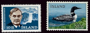 Iceland SC#377, 388 Mint VF...Worth a Close look!!