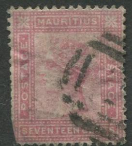 Mauritius - Scott 63 - QV Definitive -1880 - Used - Single 17c Stamp
