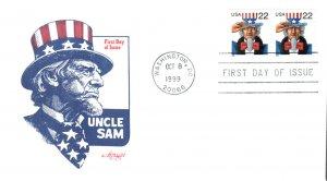 #3353 Uncle Sam Artmaster FDC