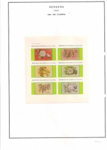 SCOTLAND - BERNERA - 1982 -Flowers (22) - 6v Imperf Sheet - MLH