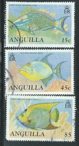 Anguilla #794,799,806  (U)  CV $9.45